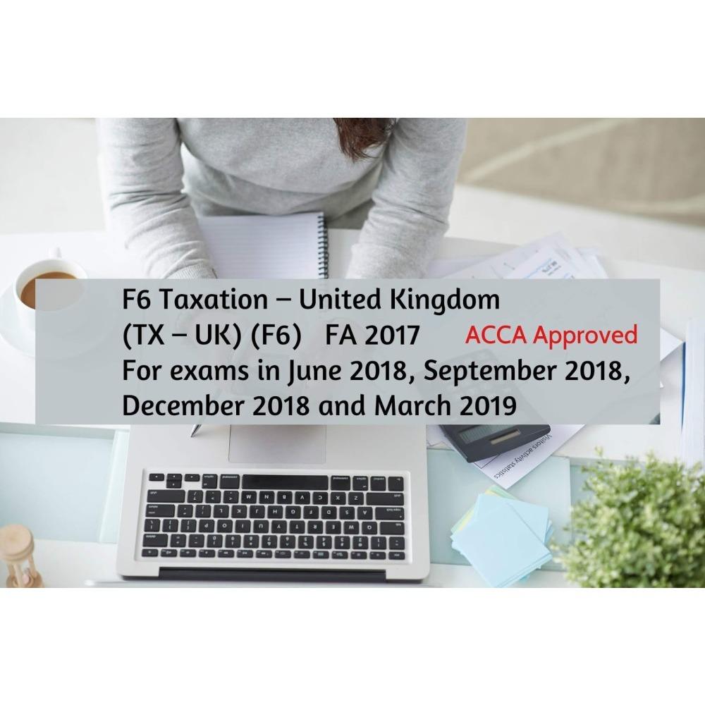 Kaplan ACCA Taxation UK F6 Exam Kit Valid Till March 2019